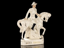 1899 Staffordshire Pottery Large Flat Back Baden Powell on Horse