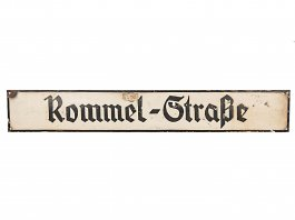 WWII German Street Sign Rommel Strasse