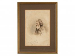 1870 Watercolour of Barabbas from Oberammergau Passion Play