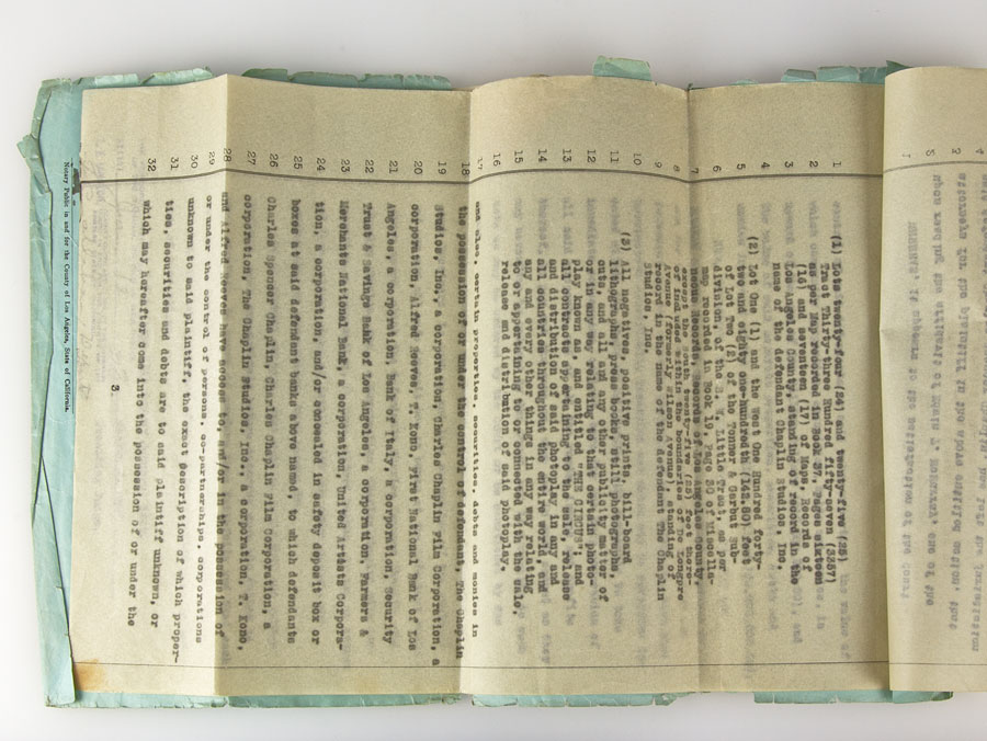 Details about 1927 Charlie & Lillita Chaplin Divorce Papers as Issued to  1st National Bank, LA