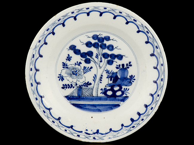 Blue And White Plates c1750 english blue and white chinese style delft plate | ebay