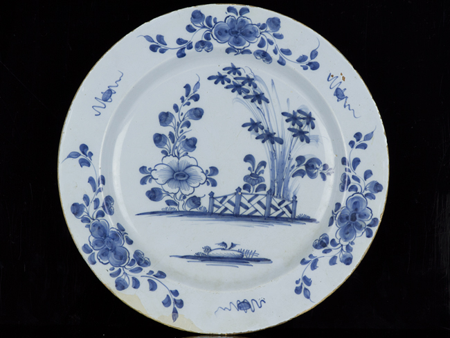 C1750 Large English Delft Blue And White Chinese Style