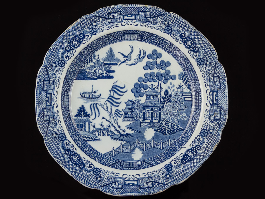 Blue And White Plates c1795 early josiah spode pair of blue & white chinese plates | ebay