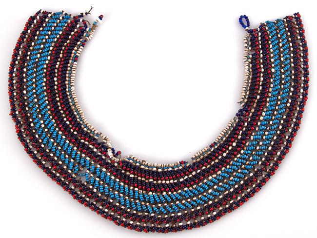 c1880 south african zulu beaded necklace ebay
