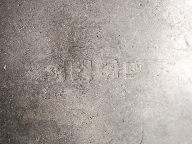 Pewter Plate Hallmark Chart England: C1700 Pewter Plate With Hallmarks