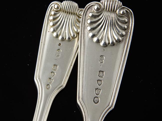 victorian sterling silver 24 piece cutlery set 1877 78 ebay. Black Bedroom Furniture Sets. Home Design Ideas